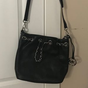 Authentic Michael Kors Black with silver purse